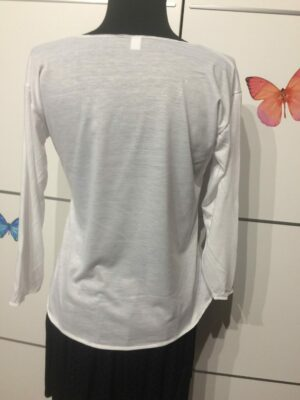 Camiseta blanca calavera manga 3/4.