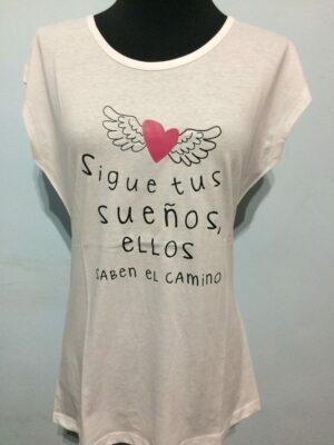 Camiseta SIGUE TUS SUEÑOS, ELLOS SABEN EL CAMINO.