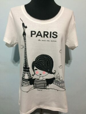 Camiseta blanca PARIS.