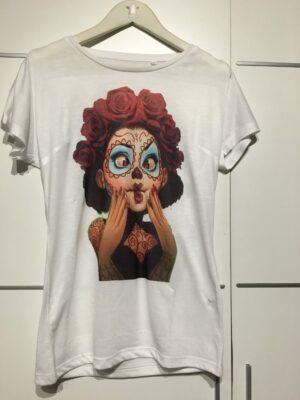 Camiseta muñeca Catrina.